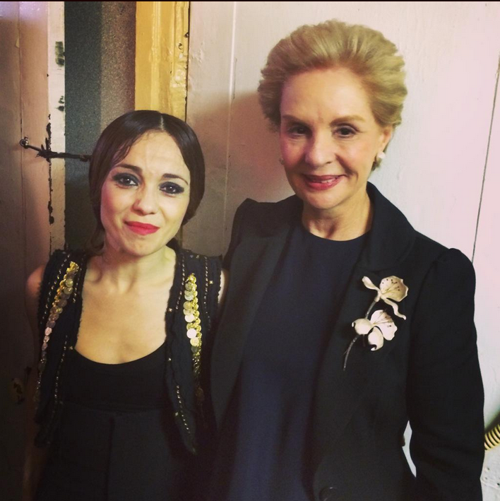 Olga Pericet with the prolific Venezuelan designer Carolina Herrera.