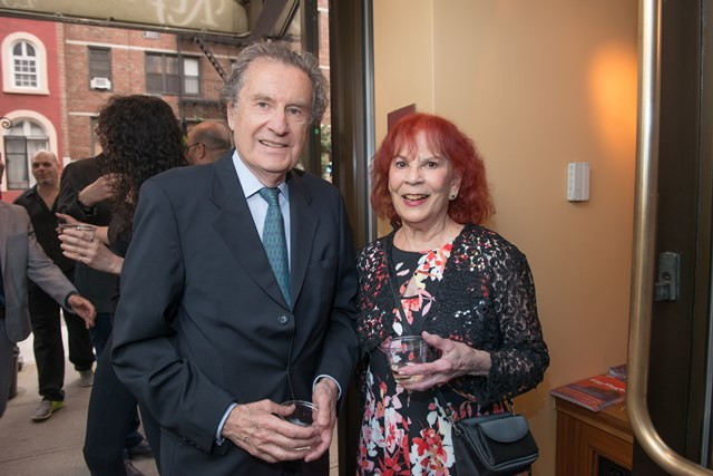 Honoree Horacio Herzberg and actress Ana Margarita Martinez Casado